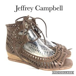 Jeffrey Campbell Rodillo Sandal in Khaki Leather 9